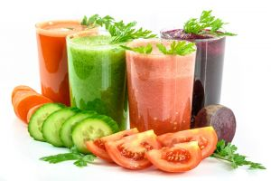 The best drinks are made from fresh fruits and vegetables.