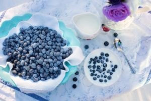 Blueberries - healthy snacks.