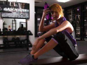 Devojka nakon fitnes treninga