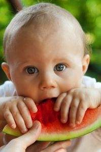 Beba jede lubenicu