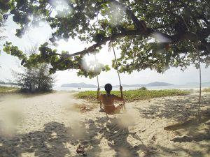 A women near by water