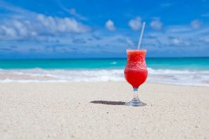 Beach with coctail